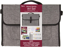 Studio 71 Mixed Media Messenger Bag, 37 Piece Art Set