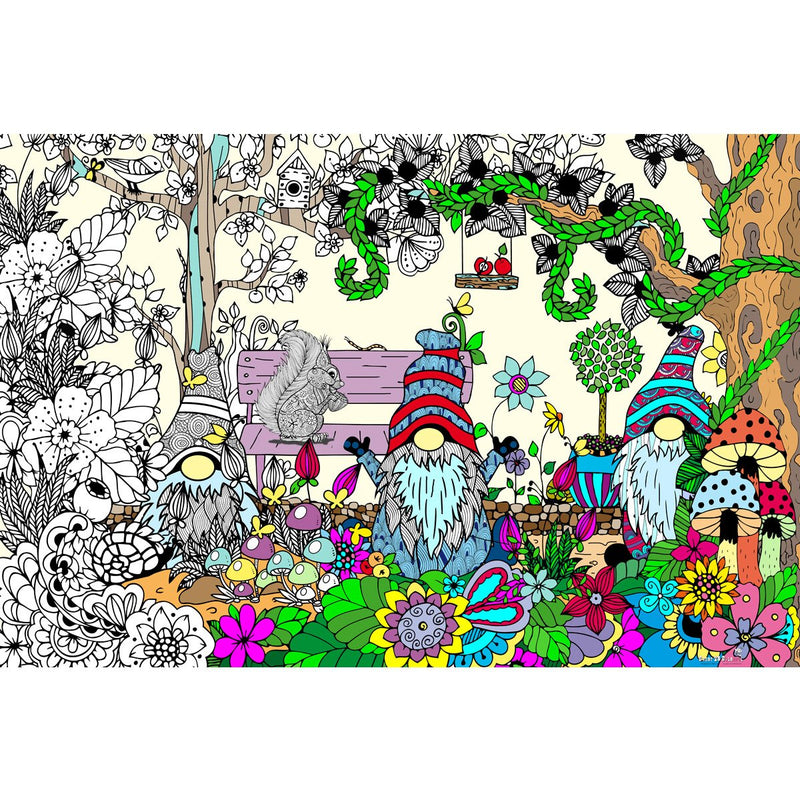 Great2bColorful Coloring Poster (3 Sizes~2 Paper Choices) - Doodling Gnomes