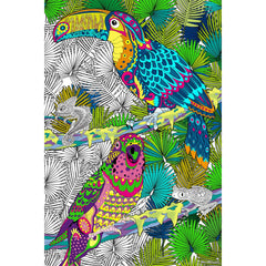 Great2bColorful Coloring Poster (3 Sizes~2 Paper Choices) - Tropical Birds