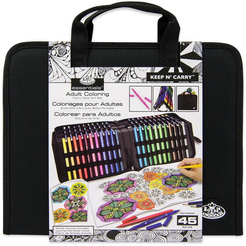 Royal Adult Coloring Keep N Carry 44pc