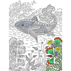 Great2bColorful Coloring Poster (3 Sizes~2 Paper Choices) - Whale of a Good TIme
