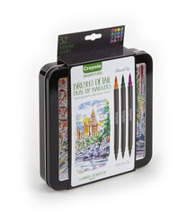 Crayola Signature Brush & Detail Dual-Tip Markers - 16 Markers