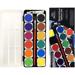 Phoenix Watercolour Tablets Set - 25 Colors