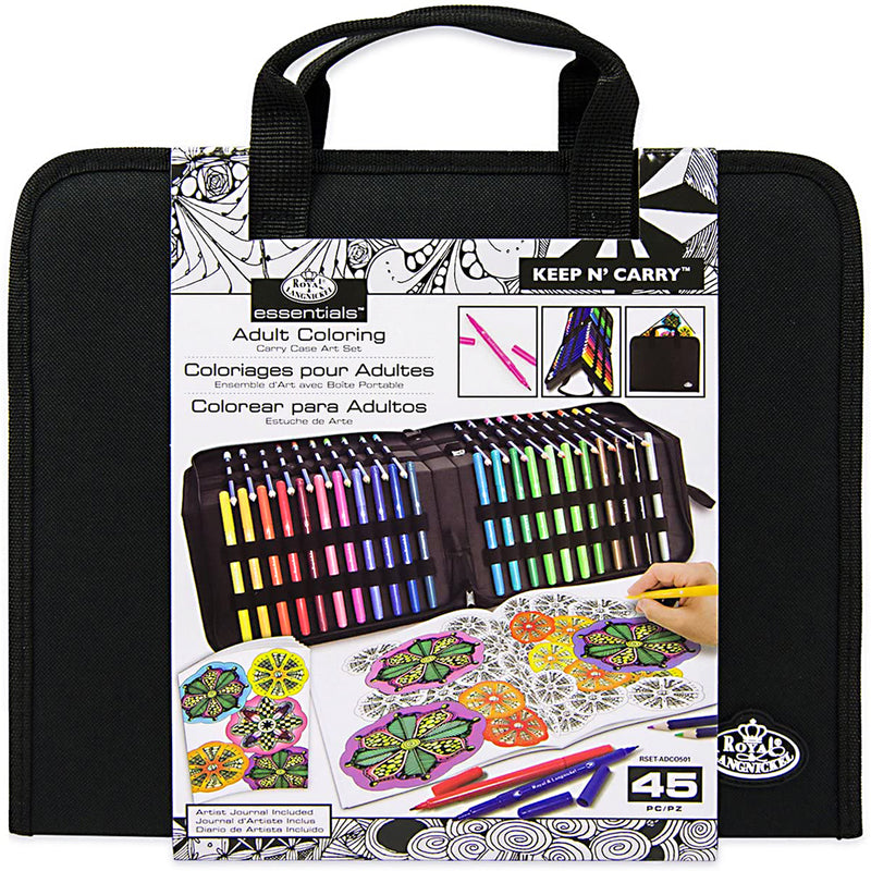 Royal® and Langnickel™ Adult Coloring Art Set: 45 pieces