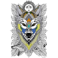 Great2bColorful Coloring Poster (3 Sizes~2 Paper Choices) - Timber Wolf