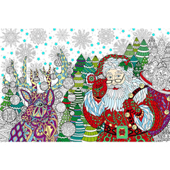 Great2bColorful Coloring Poster (3 Sizes~2 Paper Choices) - North Pole
