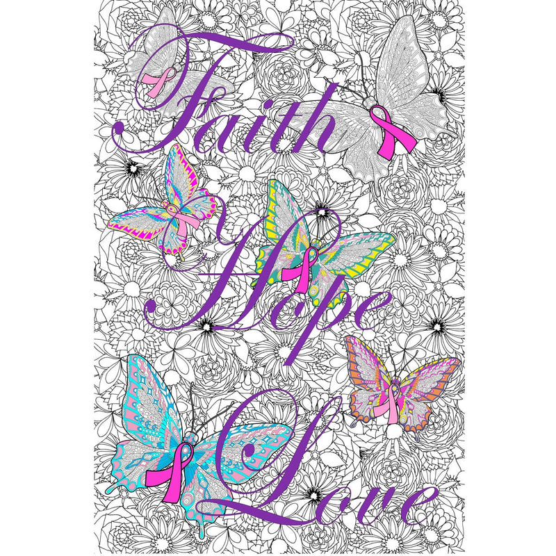 Great2bColorful Coloring Poster (3 Sizes~2 Paper Choices) - Ribbons of Hope