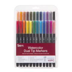 Darice Studio 71 Watercolor, 48 Pieces Markers, Assorted
