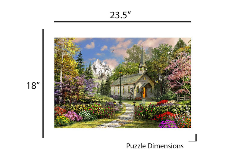 Springbok's 500 Piece Jigsaw Puzzle - Mountain View Chapel