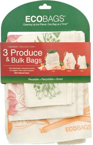 ECOBAGS® Set of 3 Reusable Produce Bags (Sm, Md & Lg)