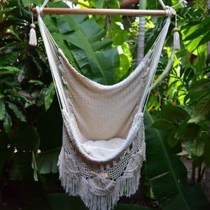 Hanging Hammock Chair with Macrame