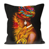 NUBIAN QUEEN BLACK EXCELLENCE FAUX SUEDE CUSHIONS