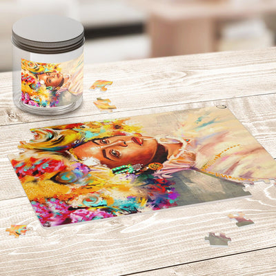 BROWN SKIN GIRL BEYONCE ART PUZZLE
