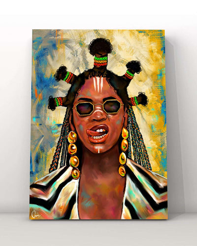 Beyoncé Black Is King Black Excellence Canvas Art Home Decor