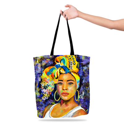 Wrapped In Melanin Black Excellence Tote Bag