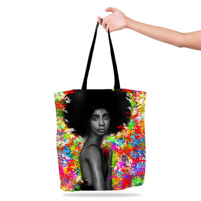 Floral Melanin Black Excellence Tote Bag