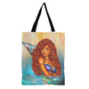 Brown Skin Girl Mermaid Tote Bags
