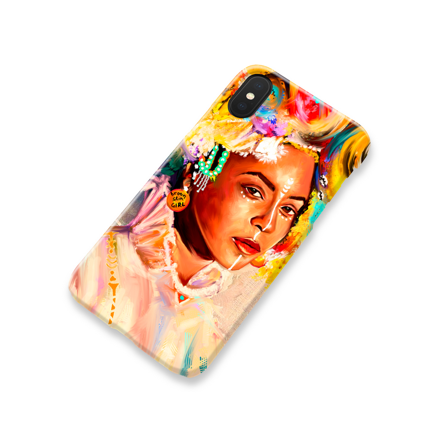 Queen Bey Brown Skin Girl Phone Case