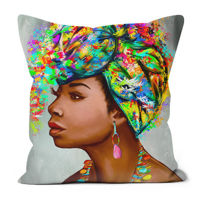 Turban Queen Black Excellence Faux Suede Cushions