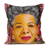 Maya Angelou Black Excellence Faux Suede Cushions