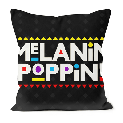Melanin Poppin Black Excellence Faux Suede Cushions