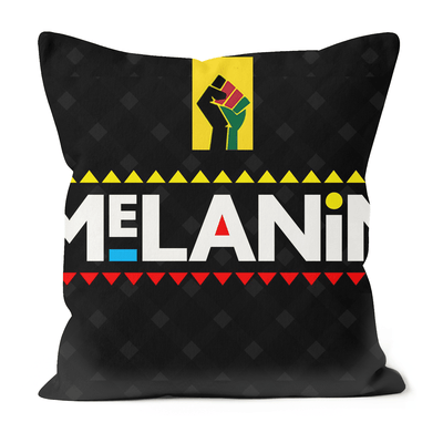 Melanin Black Excellence Faux Suede Cushions