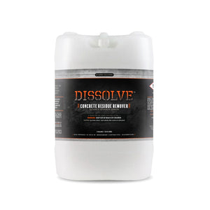 DISSOLVE™ Concrete Residue Remover-Concentrate-5 Gallon Tub