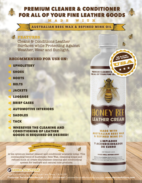 Honey Bee™ Leather Cream