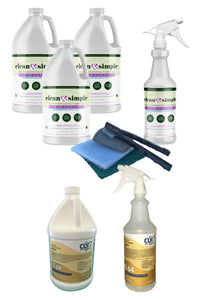 OUR #1  SPECIAL!!! Buy three gallons of clean & simple™ SUPER CLEANER, and get one gallon of Q-64 concentrated disinfectant for FREE!