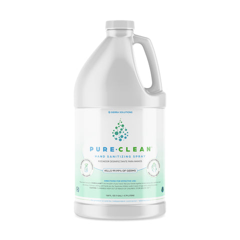 One Full Gallon of PURE•CLEAN™ Hand Sanitizing Spray-70% Isopropyl Alcohol