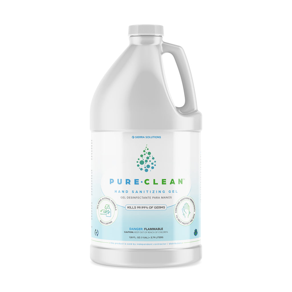 PURE•CLEAN™ Hand Sanitizing Gel-70% Ethyl Alcohol