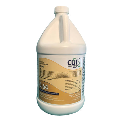One Full Gallon of Q-64 Disinfectant Cleaner and Deodorizer-concentrate-Makes 64 Gallons of Surface Disinfectant!