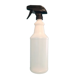 One Quart Natural Plastic Bottle w/ Trigger Sprayer