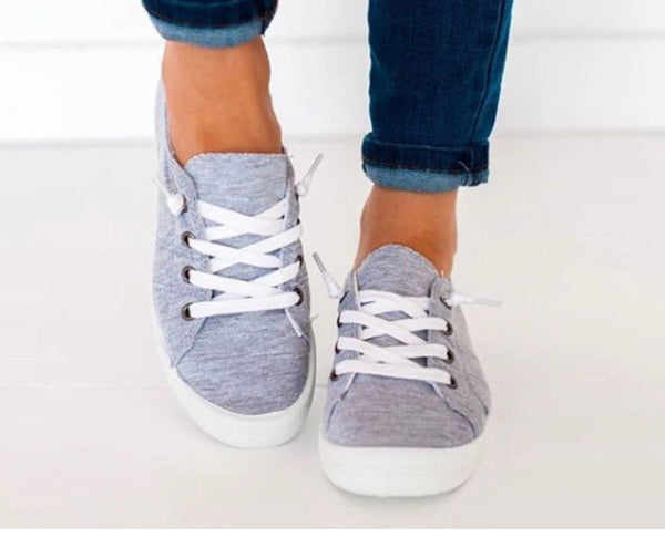 Light Gray Comfy Canvas Sneakers