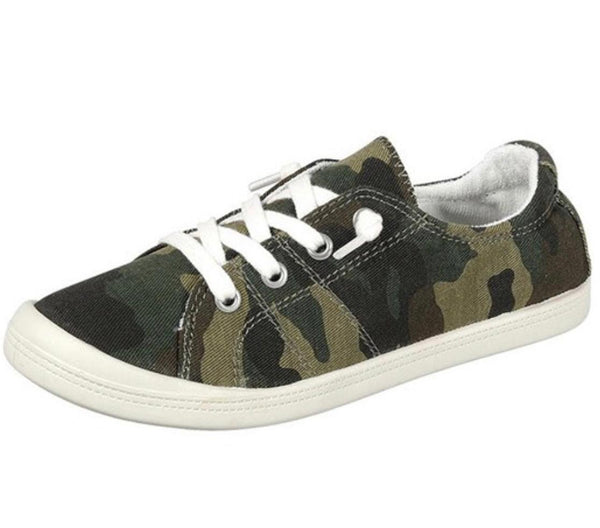 Camouflage Comfy Canvas Sneakers