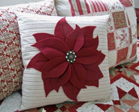 DIY Poinsettia Pillow Sewing Workshop