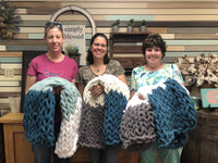 DIY Chunky Knit Blanket Workshop 2/7/2021