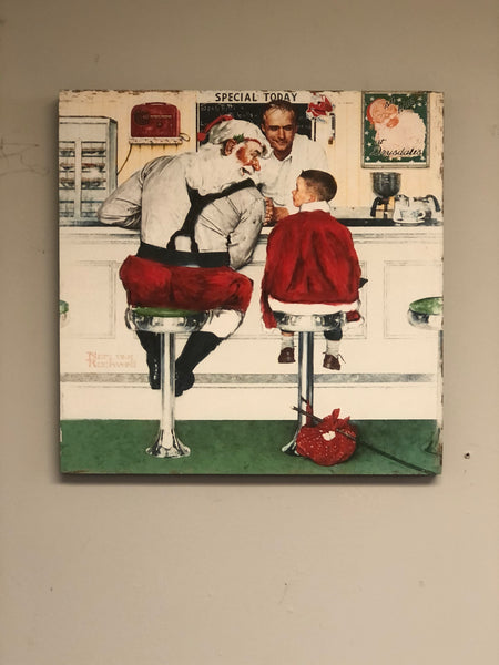 Santa Soda Shop Christmas Wall Sign