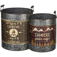 Gonna Camp Galvanized Bucket Set