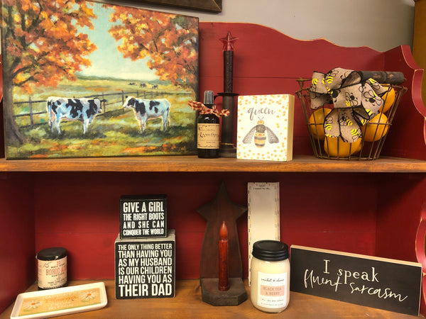 Fall Cow Box Sign