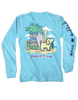Puppie Love Long Sleeve T shirt - Beach Sign Pup