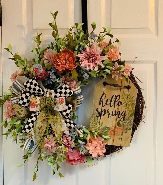 DIY Hello Spring Wreath Workshop 3/21/2020