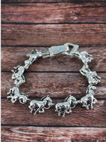 Galloping Horse Magnetic Bracelet
