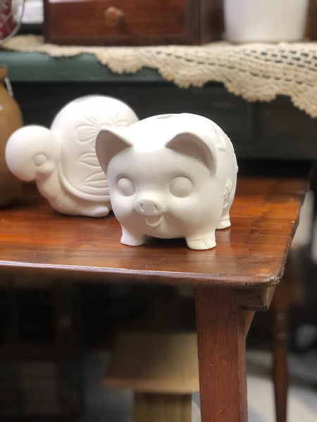 Ceramic Piggy or Turtle Bank