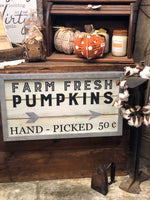 Farm Fresh Pumpkin Wall Sign