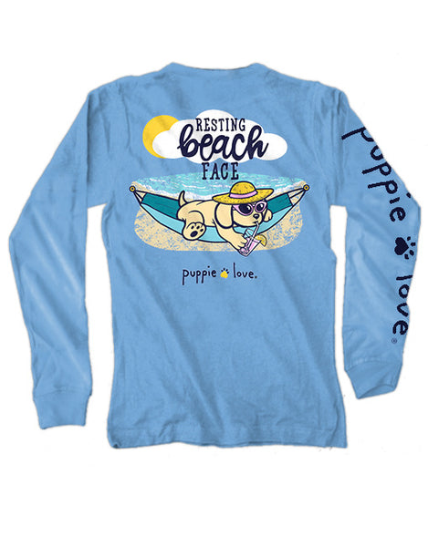 Puppie Love - Resting Beach Face Long Sleeve