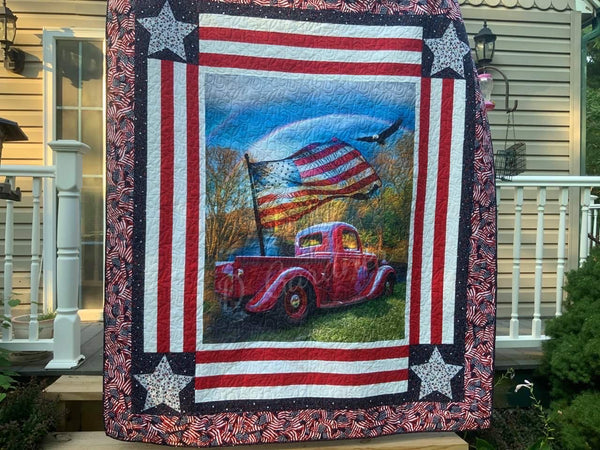 Take A Chance for Rocky -Handmade Vintage Truck Quilt Ticket