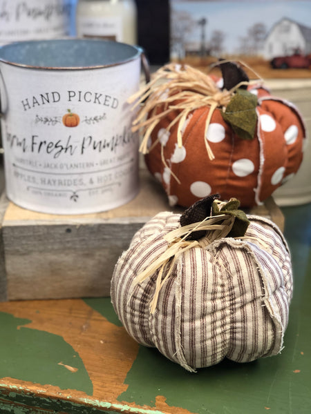 Stuffed Pumpkin Table / Shelf Decor