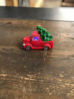 Light up Red Pickup Truck Ornament