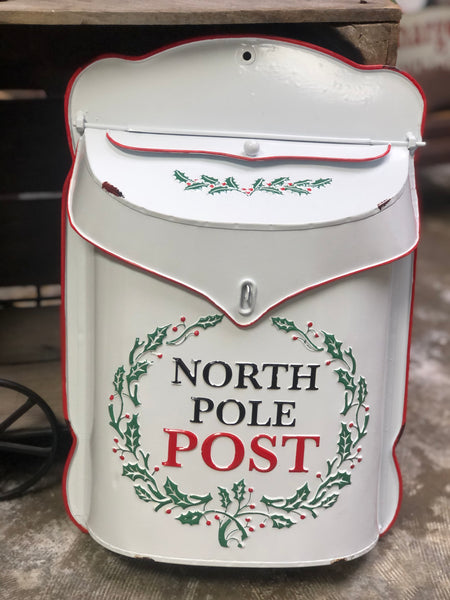 North Pole Post Faux Christmas Mailbox